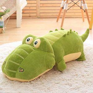 Crocodile en peluche mignon fille hippopotame oreiller de couchage chiffon poupée poupée anniversaire Saint Valentin cadeau-doux crocodile_85cm (lizhaowei531045832, neuf)
