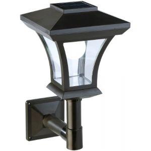 Lampadaire de jardin solaire à LED mural [Lunartec] (Pearl Diffusion, neuf)
