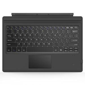 """MoKo Surface Pro 6/3 / 4 Clavier Rétroéclairé Bluetooth 3.0 sans Fil, Clavier avec Un Pivot Rotatif Confortable Tactile Slim pour Tablette Surface Pro 6/3 / 4 12"""", Batterie au Lithium intégré, Gris (Guohe, neuf)"""