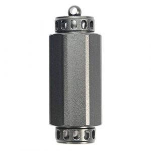 Toygogo Porte-clés Pilulier Vide Mini-bouteille en Alliage D'aluminium, étanche, Pour Camping, Voyage - S Gray (Amateur players, neuf)