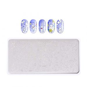 Beaupretty Nail Art Stamping Plates Set Bunny Easter Nail Art Templates And Stamper Kit Nail Plate Kit for Women Girls (Veronicoar, neuf)