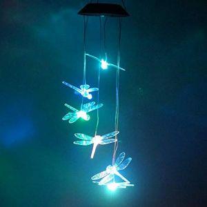 Couleur Changeante LED Solaire Vent Carillon Lumière Maison Jardin Lumière Ksruee (MOLIE™, neuf)