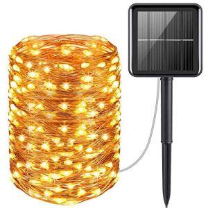 Guirlande Lumineuse Solaire, AICase 22M 200 Exterieur Étanche Lampe Solaire, 8 Modes Decoration Lumineuse Solaire-Etanche (Blanc Chaud) (AICase, neuf)