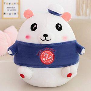 Peluche jouet en peluche ours polaire poupée mignon oreiller enfants apaisant doux mignon poupée fille cadeau d'anniversaire-bleu marin_35 cm (lizhaowei531045832, neuf)