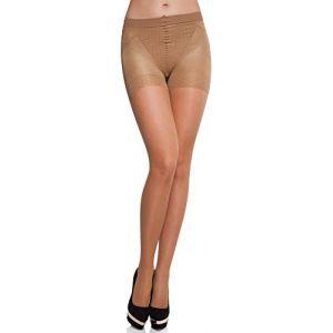Merry Style Collant Sous-vêtement Minceur Gainant Push Up Femme MS 127 20 DEN (Gazele, L) (Hisert, neuf)