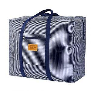 Sac de rangement en tissu épais Oxford pour le déplacement Entretien de la maison, aller à l'école, Stockage de vêtement, Organisateur de couette, sacs de rangement de décoration de festival (ZCHi, neuf)