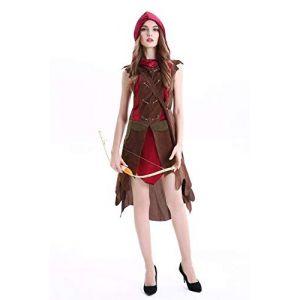 EQWR 2018 nouveau Cardinal Robin Hood Costume Sexy de haute qualité Chasseresse Peter pan Sexy Halloween Costumes pour femmes cosplay Party Dress M COMME INDIQUÉ (bilichuanzd, neuf)