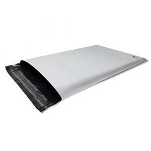 Lot de 50 Enveloppes plastique blanches opaques A4 250 x 350 mm,pochettes d'expédition 25x35 cm 60 microns. Enveloppe fine 13g, légère, solide, inviolable et imperméable. (solutions-imprimerie, neuf)