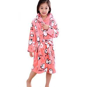 XINNE Enfants Peignoir de Bain à Capuche Flanelle Robe de Chambre Fille Garçon Automne Hiver Pyjama Vêtement de Nuit Taille S Mouton (XINNE, neuf)