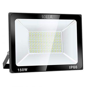 SOLLA Projecteur LED 150W, IP66 Imperméable, 12000LM, Eclairage Extérieur LED, Equivalent à Ampoule Halogène 800W, 6000K Lumière Blanche du Jour, Eclairage de Sécurité (LED Floodlight, neuf)