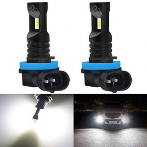 KaTur Automobile LED Blanc xénon H11 / H8 / H9 Drving Feux de Jour Feux DRL Lampes avec Top Advanced CSP LED Puces - 80W / 1600LM / 6000K - Garantie de 3 Ans (Version améliorée) (KAtur, neuf)