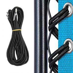 Remplacement Corde, 4 Cordes élastique Universel de Dentelle pour Zero Gravity Chaise Pliante et Inclinable Chaise Transat de Jardin Fauteuil Relax, Fauteuil de Salon(Noir) (chengtech, neuf)