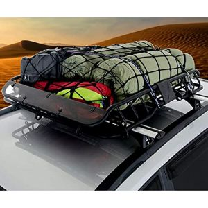 Magiin Filet de Rangement Bagages pour Coffre de Voiture Arrimage Toit Universel Résistant 120*180cm pour Camping Voyage Voiture SUV Camion Camping-car (Magiin, neuf)