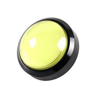 EG STARTS 4 Pouces 100mm Big dôme 12V LED Lumineux des Boutons poussoirs avec Micro pour Arcade Machine Jeux vidéo Pièces (Jaune) (EG STARTS-EU, neuf)