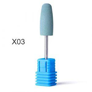 1 pcs Nail Fraise Polissage Manucure Électrique Forets Silicone Meulage Rotatif Bavure Fichier Outil Appareil Appareil JI065 X03 (QSKEU STORE, neuf)