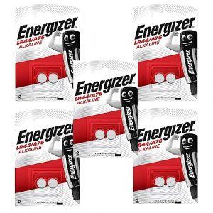 10 Energizer LR44 / A76 / AG13 pile bouton, longue durée (Generous Relax, neuf)