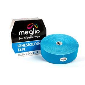 Bande Tape de Kinésiologie 31.5m Médicale Sans Latex MEGLIO - Kinesio Tape - Blessure Musculaire - Strapping Soutien Kinesio Taping - Qualité Médicale (meglio, neuf)