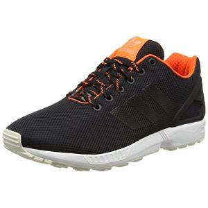 Adidas ZX Flux, Espadrilles Homme, Noir (Core Black/Solar Orange/Sun Glow), 42 EU (Espace Sport, neuf)