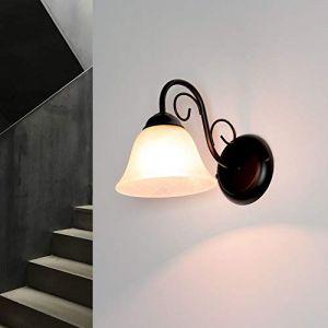 Applique noir Maison de campagne rustique E14 lampe à l'intérieur (Licht-Erlebnisse, neuf)