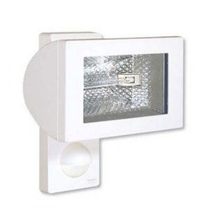 STEINEL 632816 Spot halogène Détecteur de mouvement IP44, R7s, 500W 230V blanc (ncc-design, neuf)