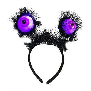 Bandeaux Cerceau de Cheveux Bandeau Lumineux femme fille - Globe oculaire noir (RT Technology, neuf)