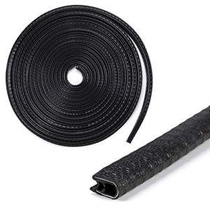 Sumnacon 9,8m (10m) en forme de U en caoutchouc Joint Joint de porte de voiture Bordure de protection Bande météo de décapage pour auto coins en métal Bateau, plage de serrage 1,0mm vers 2,5mm (10mm (H) x 7mm T) (Amazon, neuf)