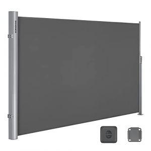 SONGMICS 160 x 350 cm (H x L) Store latéral pour Balcon, Terrasse, Brise-Vue Pare-Soleil Gris foncé GSA165G (Songmics, neuf)
