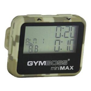 Gymboss miniMAX Minuteur d'intervalle et chronomètre – CAMOUFLAGE / SOFTCOAT TAN (Gymboss EU, neuf)