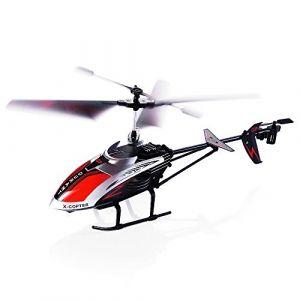 Hélicoptère Radiocommandé, Robuste 3.5 Canaux Infrarouge Équipé d'un Gyroscope et de Lumière LED, Prêt à Voler Modèle Intérieur et Extérieur Cadeau Idéal pour Enfants (Type 2) (Topeasy, neuf)