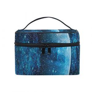 Bluebird Galaxy Trousse de maquillage, trousse de rangement pour produits de toilette avec poignée de voyage (SUNOP, neuf)