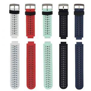 Fit-power - Bracelet de remplacement pour Garmin Forerunner 220/230/235/620/630/735XT - Taille unique (Molitececool, neuf)