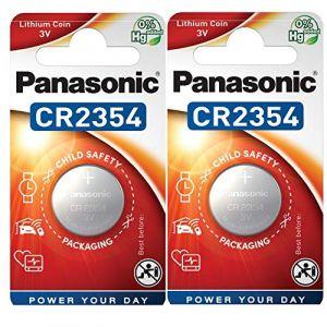 Panasonic CR2354 Lot de 2 piles lithium 3V (dEcolectrix, neuf)