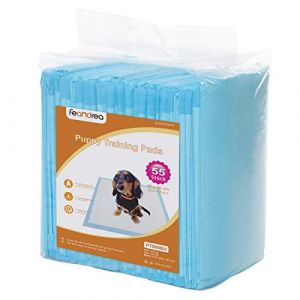 FEANDREA Tapis éducateurs pour Chiot, Lot de 55, Apprentissage de la propreté pour Chien et Chat, 5 Couches, Tapis Absorbant, Couche inférieure imperméable, 60 x 90 cm PTD95BU (Songmics, neuf)