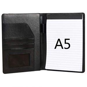 Selighting Porte Documents A5 Dossier de Conférence en Cuir PU Portfolio Chemise de Dossier pour Bureau Agenda d'affaires Conférence (Noir) (Selighting, neuf)