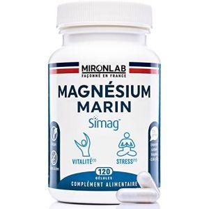 Magnésium Complexe MironLab | Magnésium marin, Bisglycinate de Magnésium et vitamine B6 | Fortement concentrée 300 mg de Magnésium élément | 90 gélules végétales| Fabriqué en France (Santilico, neuf)