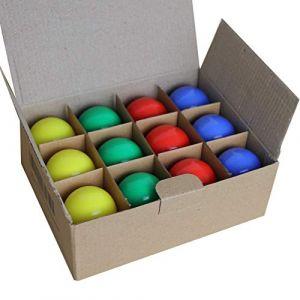Limão - Lot de 12 ampoules LED B22 1,5W - 110 Lumens - Rouges, Bleues, Vertes et Jaunes incassables (équivalent 15W) pour Guirlande Extérieure - Ergots renforcés (Limão Officiel, neuf)
