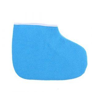 SUPVOX Bottes de bain en cire Mitaines de traitement pour les pieds Couverture de spa pour le pied Thérapie par la chaleur Thin Therapy Isolée Mitaines en coton doux Ensemble de soins des mains pour les pieds (Bleu) (Karminna, neuf)