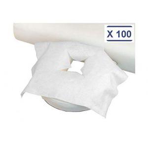 déliktess® - Housse protège têtière jetable pour table de massage par 100 (MFB Provence, neuf)