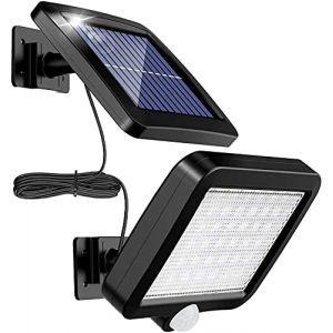 MPJ Lumière solaire extérieure avec détecteur de mouvement 56 LED, lumière solaire de jardin étanche IP65 à 120 ° avec câble de 5 m (CF-STORE, neuf)