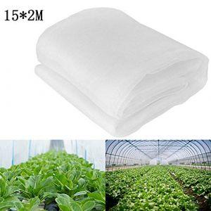 zyurong Filet à Insectes Maille Fine Tunnel de Croissance Filet à Insectes pour Plantes à Fruits, Filet de Jardin 15 x 2M (Zyurong, neuf)