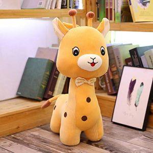 Peluche jouet doux mignon mignon girafe poupée poupée enfant fille cadeau d'anniversaire-Jaune_85 CM (lizhaowei531045832, neuf)