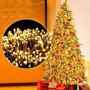 Ulinek 1000 LED Guirlande Lumineuse 25M, Décoration Noël Lumière Extérieur Intérieur 8 Mode Éclairage/Basse Tension,Guirlande Lumiere Sapin Arbre Anniversaire Mariage Jardin Maison (Blanc Chaud) (Weiyizhixiang EU, neuf)