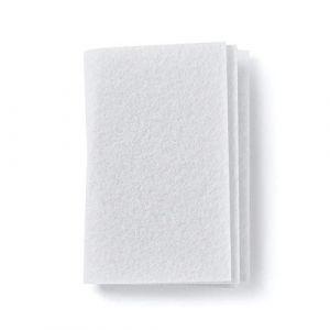Microsafe® Lot de 10 microfiltres universels à air / filtre moteur / filtre d'extraction / micro-filtre / tapis filtrant à découper env. 190 x 150 mm (microsafe, neuf)
