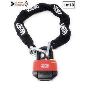 Vector Kit antivol chaîne 1,10m + cadenas/bloque-disque MiniMax Alarm+ SRA (Mr 2 Roues, neuf)