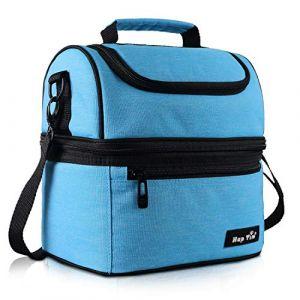 Hap Tim Sac Isotherme Repas Femme & Homme, Lunch Box Bag Isotherme Femme, Glaciere Souple Isotherme, 7.5L Sac Repas Pour Enfant Travail PiqueNique - Bleu EU16040-BL (NUO LAN ART, neuf)