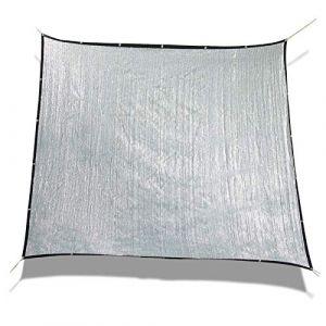 Laxllent Toile d'ombrage Serre Rectanglulaire,3x3m, Toile d'ombrage Pergola,Aluminet Bâche Anti UV 70% pour Voiture & Animaux,Argenté (Sun Twinkle, neuf)