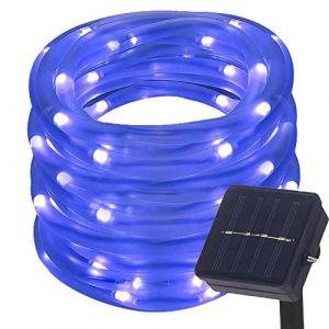 DULEE Guirlande Tube Lumineuse Solaire 10M 100 LED Tube Lumineux Extérieur étanche Lumière de Fée Décorative,Bleue (DULE, neuf)