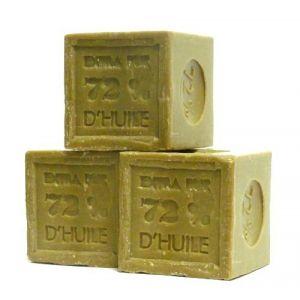Légumes purs : 3 savons cubiques à l'huile d'olive 300g (Savon de Marseille) (GRENADINE BOUTIQUE, neuf)