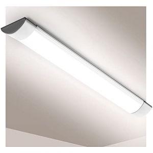Tube LED 90cm, éclairage LED, led batten light, 30W, 6000K, 220V, 3600lumen, plafonnier de bureau pour bureau, garage, atelier et chambre, salon, salle de bain, cuisine (Blanc Froid, 30W) (Viugreum-EU, neuf)