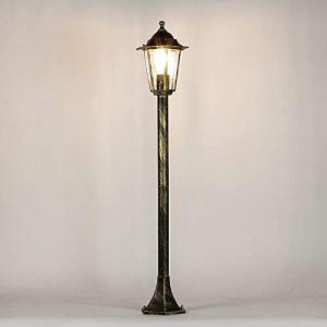 Lanterne de jardin rustique lanterne chemin d'accès lampe or antique E27 IP44 lanterne d'extérieur lampadaire lampadaire cour intérieure (Licht-Erlebnisse, neuf)